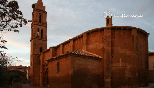 La portada oeste de San Miguel de Biota